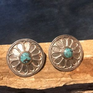 Jewelry - Native American Turquoise & Sterling Earrings